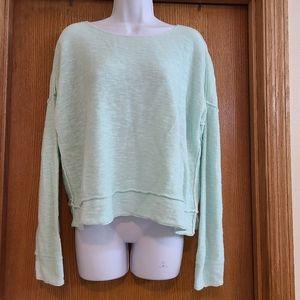 Eileen Fisher Mint Green Linen Blend Sweater S